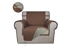 Reversible Quilted Furniture Protector Cover Brown Chair (A003)