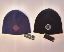2 Cuffie in lana Fred Perry Raf Simons beanie hat blu nero originali con logo