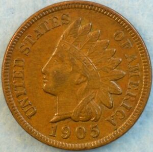 1905 Indian Head Cent Penny Very Nice Old Coin Fast S&H 491