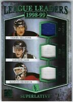 2017 Leaf ITG Superlative LL Teemu Selanne/Jagr/Brodeur Triple Jersey Card #/7