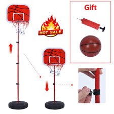 Basketball Stand Hoop System Kids Goal Indoor Outdoor Sports with Ball