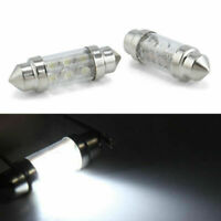 2pcs/set 6 LED Pure White Car Festoon Interior Dome C5W Light Bulb 36mm DC 12V