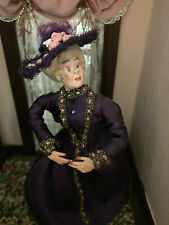 Vintage Marcia Backstrom Dollhouse Doll VERY EARLY Victorian Lady Purple Gown