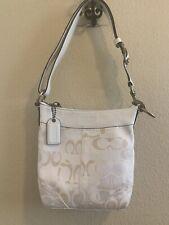 COACH Optic Signature Canvas / Leather Duffel Handbag Purse 10377