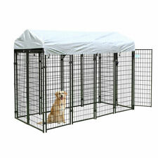 Outdoor Dog Kennel w/Cover Crate Pet Enclosure Playpen Run Cage House