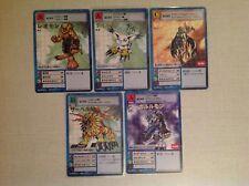 Lot Of 5 Rare Japanese Digimon Stamping Cards Bandai 2015