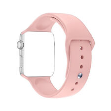 Replacement Bracelet For Watch 38mm Silicone Sport Band Watch Strap Sand Pink