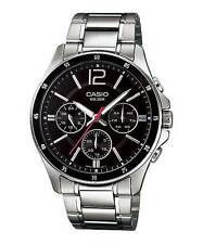 Casio MTP1374D-1AV Men's Standard Metal Band Multifunction Black Dial Watch