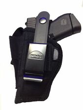 Gun Holster fits Beretta BU9 Nano PRO-TECH OUTDOORS Black Nylon Belt or Clip On