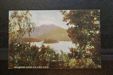1904 Postcard- Loch Katrine, Ellen's Isle & Ben Venue- Postmarked Portobello