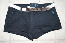 NWT Abercrombie Girls Size 14 Navy Shorts With Belt
