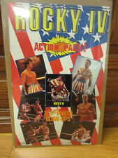 Vintage Rocky IV the movie 1985 small poster Action pack ad NICE  10817