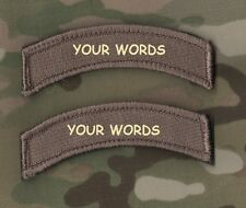 KILLER ELITE PROFESSIONAL WARRIORS YOUR WORDS: Custom-Embroidered Tab X 2  EF