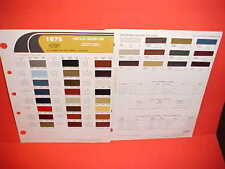 1975 CHRYSLER CORDOBA PLYMOUTH SCAMP DUSTER DODGE CHARGER SE DART PAINT CHIPS 75