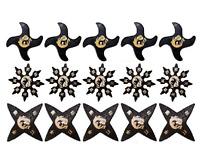 Martial Arts Rubber Foam Throwing Stars Ninja Shuriken Star Practice Set of 15