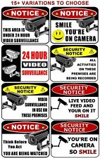Security Camera Signs for Home or Business - Video - Surveillance - Alarm