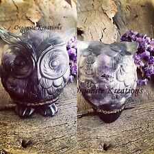 Owl Amethyst Crystal Orgonite 'Watch Over Me'