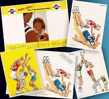 PEPSI COLA | ALTES HIGHSCHOOL BASKETBALL PROGRAMM ORDERMUSTER 1965 + 3 BLÄTTER