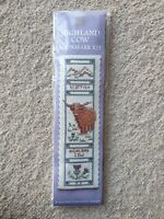 Textile Heritage - Counted Cross Stitch - Highland Cow - Bookmark Kit
