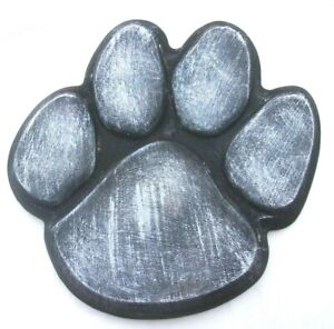"Dog paw print stepping stone mold 12"" x 12"" x 2"" plaster concrete plastic mould"