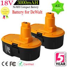 2x 3.0Ah Ni-MH DC9096 Battery for DeWalt XRP 18V DC9096-2 DC9098 DW9095 DE9096