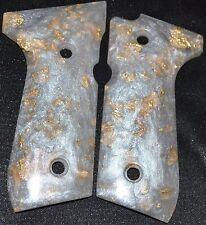 Beretta 92FS pistol grips pearl with gold leaf plastic
