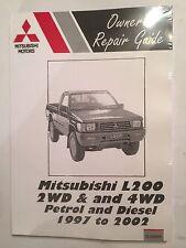 MITSUBISHI L200 2WD 4WD 2L 2.4L Petrol 2.5L Diesel engines WORKSHOP MANUAL 97-02