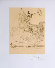 Salvador DALI Don Quixote Facsimile Signed Offset Lithograph Print