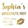 Custom Bachelorette Party Golden Tattoos, Hen night temp tattoos. Team Bride Hen