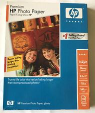 HP Premium Glossy Photo Paper C6979A 50 Sheets 10mil 8.5x11 Inkjet Printers
