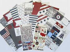 SIMPLE STORIES   [HERO]  12 x 12 Patriotic Paper & Stickers  -   Save 60%