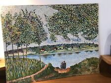 Original Unframed Oil On Canvas 1969 Signed By Artist Painting After Van Gogh