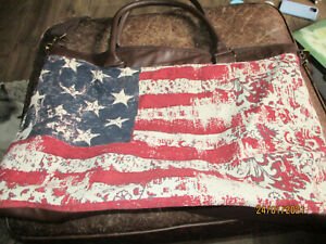 Mossimo Travel Carry-on Tote Rustic Patriotic American Flag Red White Blue