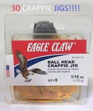 30 Eagle Claw 1/16oz. Ginger Crappie Jigs (ECJC20-116) EB050203