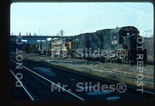 Original Slide CR Conrail/Penn Cental ALCO C636 6791 & EX EL C425/PC RS27 W/Trai