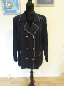 EXCLUSIVELY MISOOK 2 Piece Dark Blue Size 3X Pants Suit Preowned