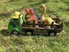 2 Dinosaurus Tyrannosaurus Rex & Diplodocus On a Truck/ Vehicle Set