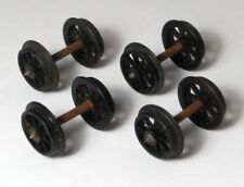 4 x Triang spoked wheelsets, later type, for coaches & wagons, spares, wheels