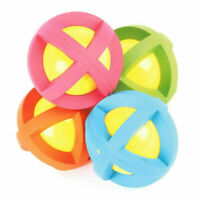 Dog Ball Bouncy Rattle Toy Boingo Ball Natural Rubber Random Colours 2 Sizes