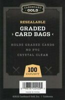 500 (5 Packs) Ultra CBG RESEALABLE GRADED CARD BAGS GB