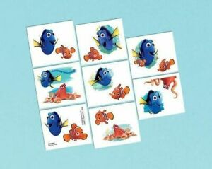 FINDING DORY Temporary Tattoos Party Favours Loot Lolly Bag Birthday Gifts Nemo