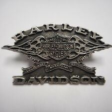 HARLEY DAVIDSON *****SHIELD WITH FLAME ***  PEWTER PIN  BEAUTIFUL
