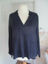 MARKS & SPENCER Collection Navy Blue Long Sleeve Blouse Plus Size 20