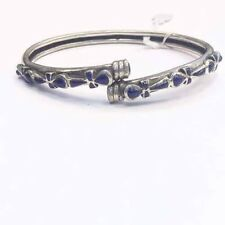 Rare Egyptian Stamped 100%Sterling Silver Natural Lapis Lazuli ANKH Bracelet!WOW