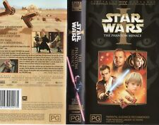 Star Wars 1 and 2 - Phantom Menace Attack of The Clones VHS Video Tapes Cassette