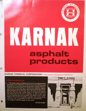 KARNAK Asphalt Products Catalog ASBESTOS Roofing Floor Mastic Waterproofing 1976