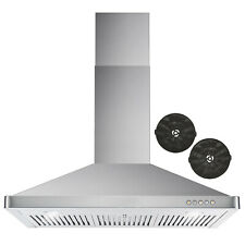 36 In. Ductless Wall Mount Range Hood w/ Push Buttons and Filter Kit (Open Kit)