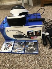 Sony PlayStation VR -Bundle- Games Included with Box USED