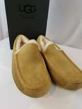 UGG Men's Ascot Sz. 8 - Slippers Orange Bottom Moccasin Chestnut - New w/Box