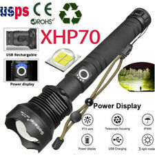 Zoomable XHP70 LED USB Rechargeable Flashlight Torch Super Bright Ultra Lumens -